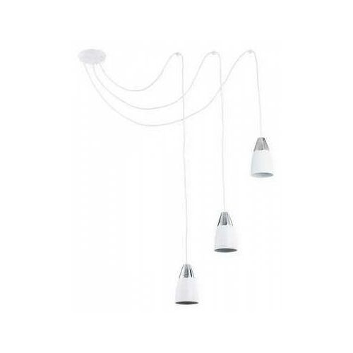 Lemir Kala O2663 W3 BIA lampa wisząca zwis pająk 3x60W E27 biały mat / chrom, O2663 W3 BIA