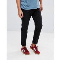 Stradivarius skinny chino in black - black