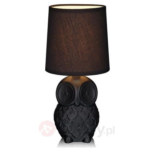 Markslojd Helge 105311 lampa stołowa czarna sowa
