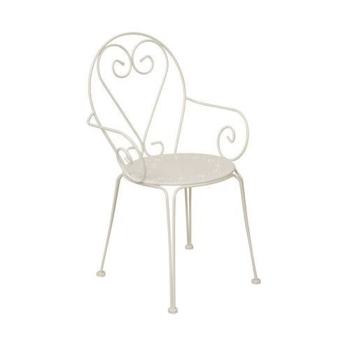 Krzesło ogrodowe parma stalowe kremowe marki Telehit garden