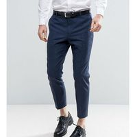 skinny tapered smart trousers in tweed - navy, Heart & dagger