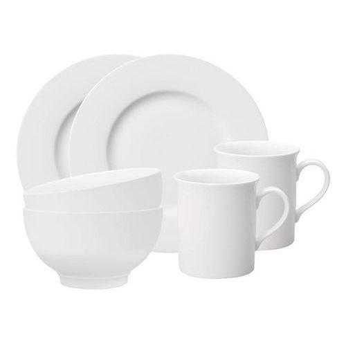 Villeroy & boch - twist white zestaw śniadaniowy dla 2 osób
