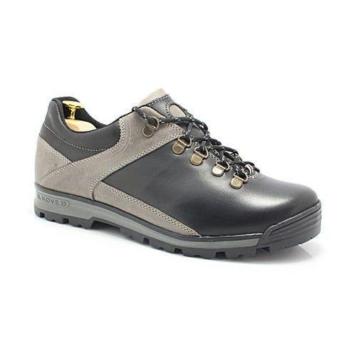 290 czarny-szary trekkingowe buty męskie ze skóry - szary   czarny marki Kent