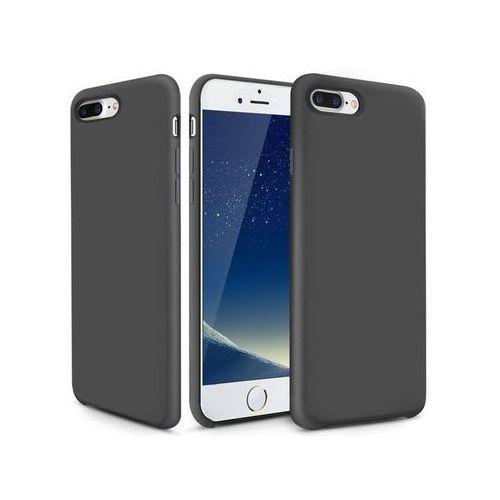 Etui Alogy mat silicone case Apple iPhone 7/8 Plus Szare + Szkło - Szary, kolor szary