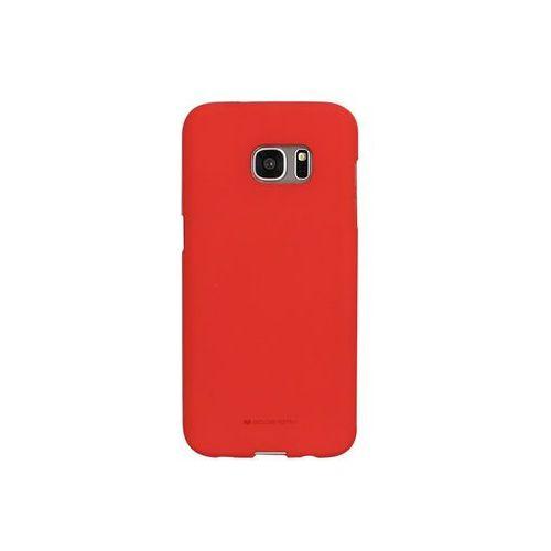 Samsung Galaxy S7 Edge - etui na telefon Mercury Goospery Soft Feeling - czerwony, kolor czerwony