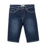 """Miękkie bermudy dżinsowe ze stretchem regular fit ciemnoniebieski """"stone, Bonprix"""