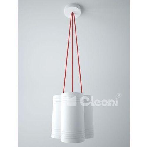 lampa wisząca CELIA B3A z czerwonymi przewodami, CLEONI 1271B3A+