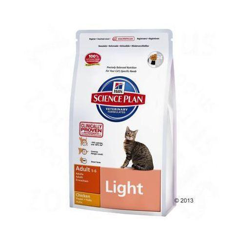 Hill's Feline Adult Light, kurczak - 10 kg (0052742421605)