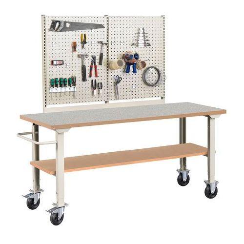 Kompletny mobilny stół warsztatowy SOLID 400, 2000x800 mm, winyl