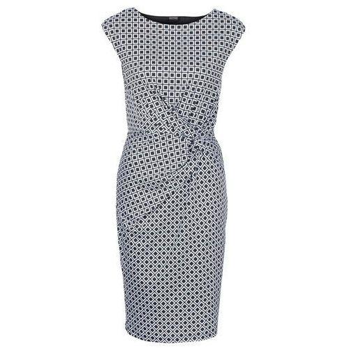 3f2ab76eac Sukienka czarno-biały z nadrukiem