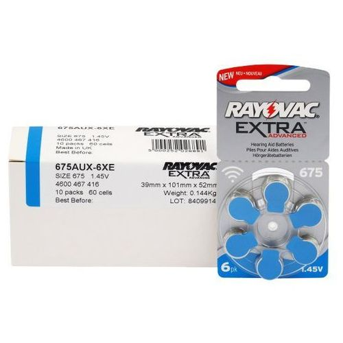 300 x baterie do aparatów słuchowych Rayovac Extra Advanced 675 MF