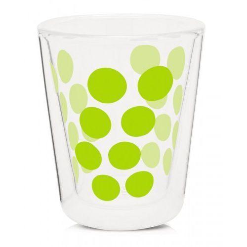 Zak! designs Szklanka z podwójną ścianką 200 ml zielona zak! design