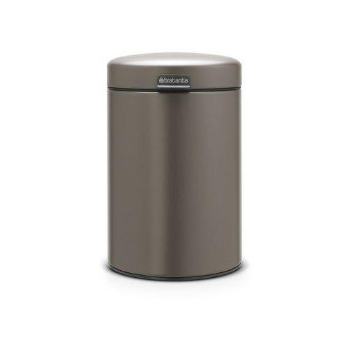 Brabantia - Kosz ścienny NewIcon - 3 l - plastikowe wiadro - platynowy - platynowy