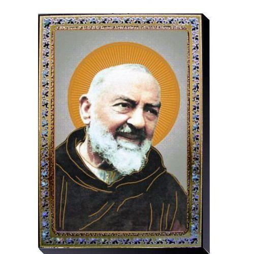 Obrazek ze świętym ojcem pio 10x14 cm marki Produkt włoski