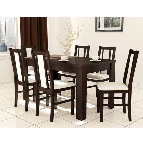 Drewmix Stół s-44 (80x140-180) + 6 krzeseł boss xiv