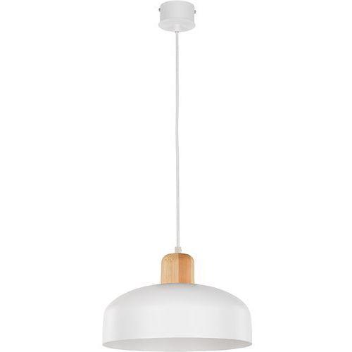 Lampa wisząca Sigma Wawa D biała naturalne drewno, kolor Biały