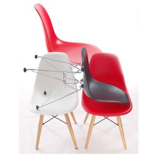 Krzesło JuniorP016 białe, chrom. nogi MODERN HOUSE bogata chata