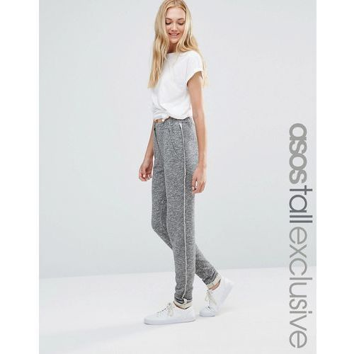 ASOS TALL LOUNGE Sweat Jogger With Popper Front And Raw Seams - Grey