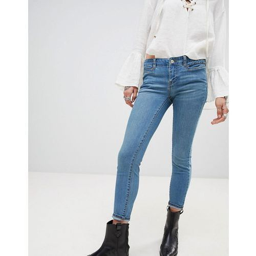 Free People Low Slung Skinny Jeans - Blue