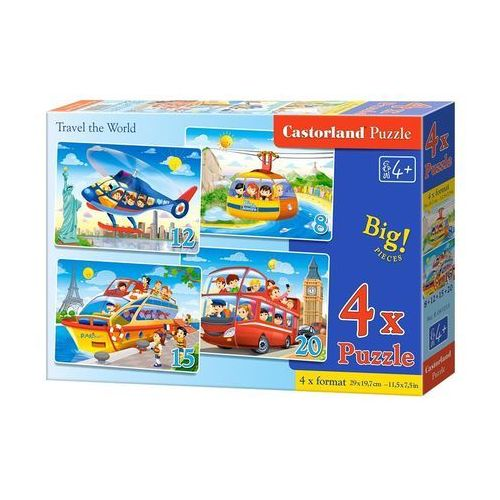 4x1 Puzzle 8-12-15-20 Travel the World - Castor (5904438041015)