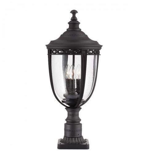 Feiss Zewnętrzna lampa ścienna english bridle fe/eb2/l blk elstead kinkiet oprawa elewacyjna ip44 outdoor czarny
