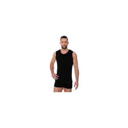 Bezszwowa koszulka męska Brubeck Comfort Cotton SL00068 czarny, Brubeck SL00068