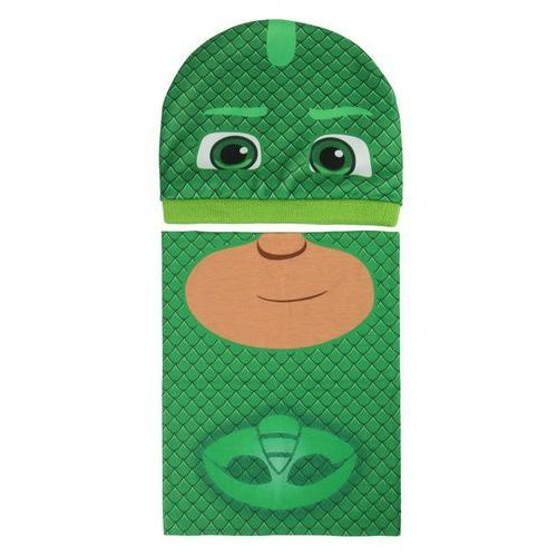 Komplet: czapka jesienna / zimowa i komin pidżamersi - zielony marki Cerda