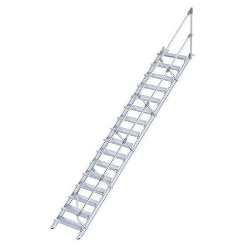 Schody przemysłowe, stopnie z aluminium, szer. stopnia 800 mm, 16 stopni. stosow marki Günzburger steigtechnik