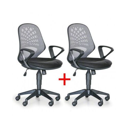 B2b partner Krzesło biurowe fler 1+1 gratis, szary