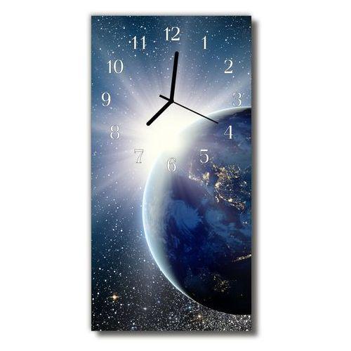 Zegar szklany pionowy planeta wszechświat ziemi niebieski marki Tulup.pl