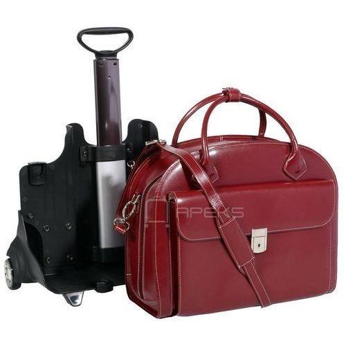 """McKlein Glen Ellyn torba damska z naturalnej skóry na laptopa 15,6"""" - czerwony (6421549436688)"""