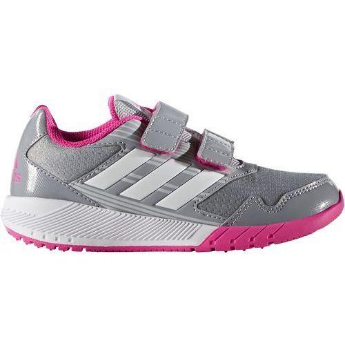 Adidas  performance altarun obuwie do biegania treningowe mid grey/white/shock pink