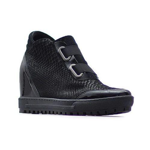 Sneakersy Eksbut 66-4297-B57/121/136 Czarne lico + ocieplina, kolor czarny