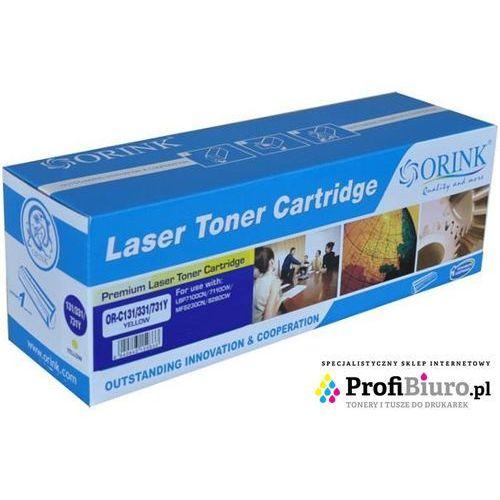 Toner LCRG731Y-OR Yellow do drukarek Canon (Zamiennik Canon CRG-731Y) [1.5k]