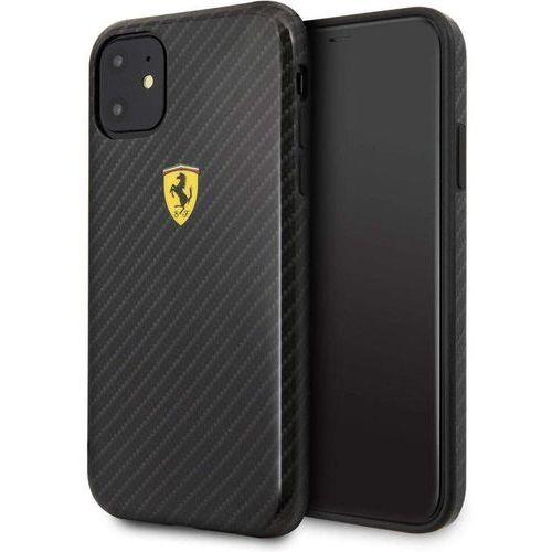 Ferrari Hardcase FESPCHCN61CBBK iPhone 11 black/czarny On Track Carbon Effect - Czarny (3700740459430)