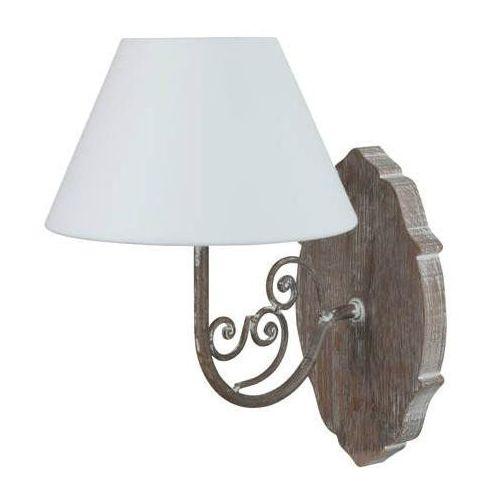 Clothilde-kinkiet drewno/kute żelazo/bawełna wys.31cm marki Corep