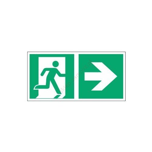 Znak kierunek do wyjścia ewak. strz. w prawo e02-pp marki Techem