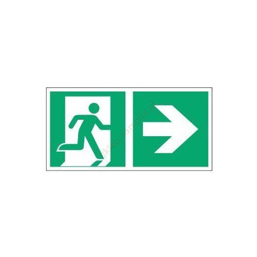 Znak Kierunek do wyjścia ewak. strz. w prawo E02-PP