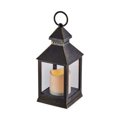 ZY2115 LAMPION LED ŚWIECZKA 24CM 3XAAA 0.06W VINTAGE TIMER CZARNY ZY2115 EMOS, ZY2115