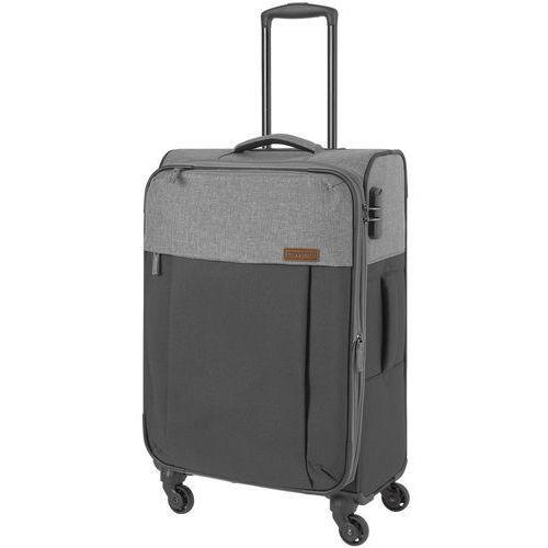 Travelite Neopak walizka średnia poszerzana 67 cm / szara - antracyt
