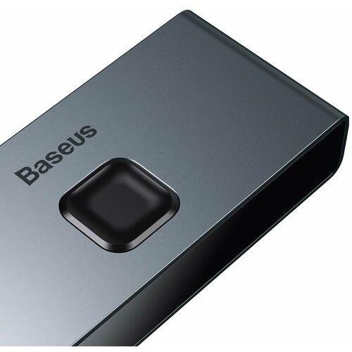 Baseus dwukierunkowy przełącznik rozdzielacz splitter switcher HDMI - 2x HDMI 4K / 30 Hz szary (CAHUB-BC0G)