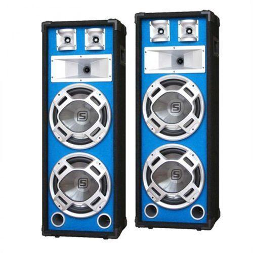 Para kolumny PA 20-cm niebieski efekt świetlny 2x600W