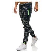 Spodnie męskie dresowe joggery moro-granatowe denley ml225 marki Must