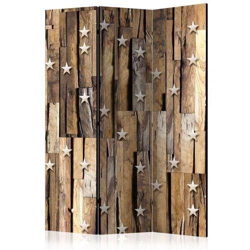 Parawan 3-częściowy - Drewniany gwiazdozbiór [Room Dividers]