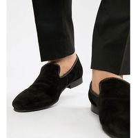 Dune Wide Fit Suede Slipper Loafers Black Suede - Black