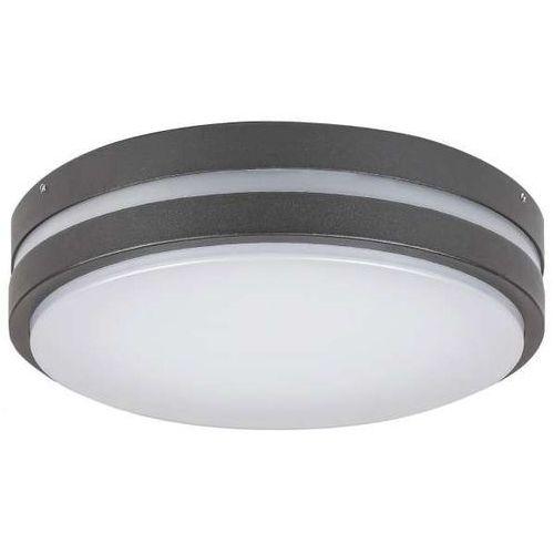 Zewnętrzna LAMPA sufitowa HAMBURG 8847 Rabalux okrągła OPRAWA elewacyjna LED 10W 4000K kinkiet outdoor IP44 grafitowy biały, 8847