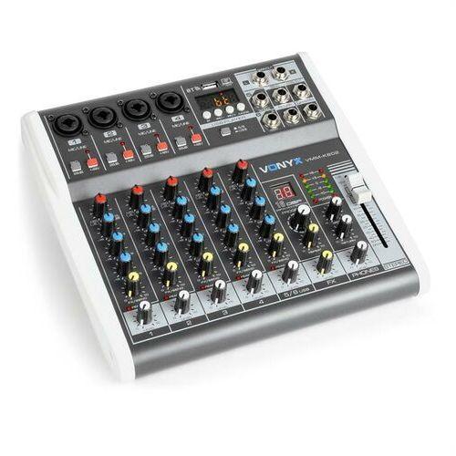 Vonyx VMM-K602 6-kanałowy mikser muzyczny Bluetooth interfejs audio USB (8715693292305)