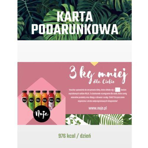 Karta podarunkowa 3 kg mniej / dieta sokowa / detoks sokowy marki Nuja