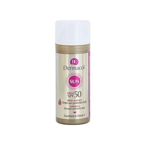 - tinted water resistant fluid - spf 50 - wodoodporny podkład z filtrem spf 50 marki Dermacol