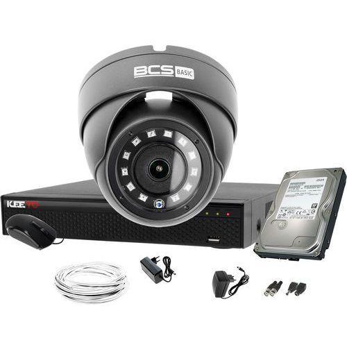 Bcs basic fullhd 1x bcs-b-mk22800 zestaw do monitoringu dysk 1tb akcesoria
